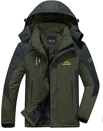 of boys bowling jackets KEFITEVD Men's Winter Ski Jacket Warm Snow Coat Mountain Windbreaker Hoodie Raincoat Hiking Snowboarding Jackets