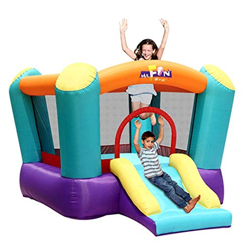 For Sale! YLLN Bouncy Castles Pool Children's Bouncy Castles Children's Slide, Kindergarten Children's Trampoline Indoor and Outdoor Large Amusement Park Children's Game Toys