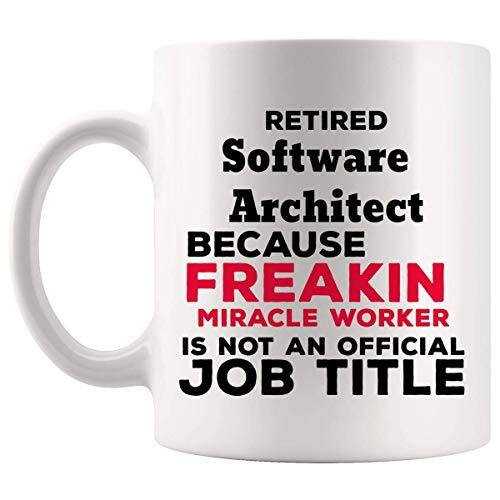 Regalo della tazza dell'architetto del software in pensione - 11 once Regali della tazza di caffè in pensione - Regali di pensionamento per uomo Donna Tazze Tazze Nonno Nonno