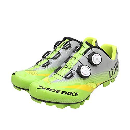 JINGJIE Zapatos De Montaña, Paseos En Bicicleta Zapatos Bloqueo Zapatos Transpirables Desgaste para El Ciclismo MTB Compatible Tráfico,41EU