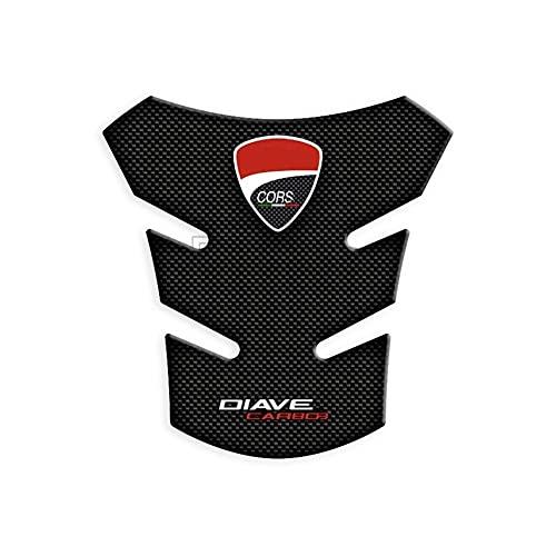 Protector DE Tanque Moto Etiqueta Engomada De La Motocicleta 3D Pegatina Pegatina Tanicero Pad Motorbike Racing Protector Calcomanías para D-UC-ati para DIAVEL 1260S (Color : A)