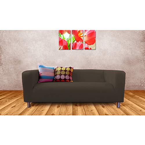 Shopisfy Ersatzbezug Klippan für 2-Sitzer-Sofa | weiches, bequemes Material | abnehmbarer & leicht zu reinigender Bezug | Wohnzimmer | Heimdekoration (grau, 2-Sitzer)