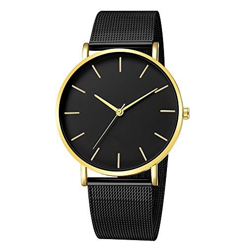 Quartz Uhren für Herren, Skxinn Männer Armbanduhr Zifferblatt Analog Business Minimalistische Quartz Armbanduhren mit Edelstahl Band Ausverkauf(D,One Size)
