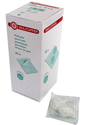 50 sterile Mulltupfer Tupfer 25 Set's a 2 Stück steril
