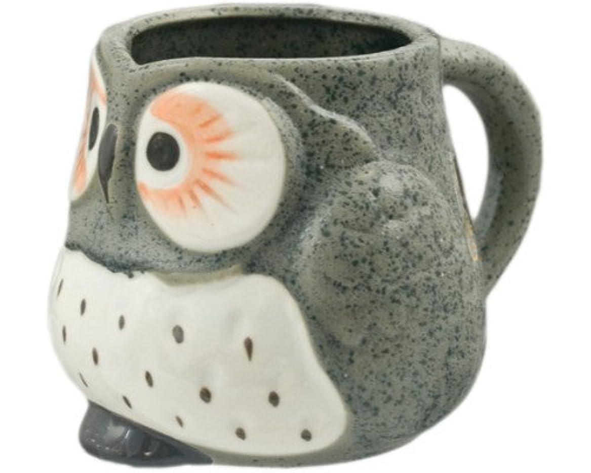ディレクターデモンストレーション安定手描きフクロウコーヒーティーマグカップ グレー HSMT-OWLGRY