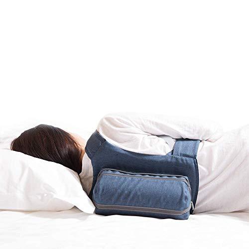 WoodyKnows 2021 Mochila para dormir lateral recientemente mejorada con todas las correas de cinta mágica y cremallera mejorada, alivia los ronquidos causados por la posición supina para dormir