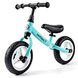 Balance Bike for 2 Year Olds, 12 Inch Toddler Riding Toys for Indoor and Outdoor, Lightweight Training Bicycle for 2-6 Years Old Kids with Adjustable Seat Height (Blue)