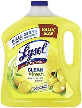 2-Pack Lysol Lemon & Sunflower Fresh Multi-Surface Cleaner, 90 oz