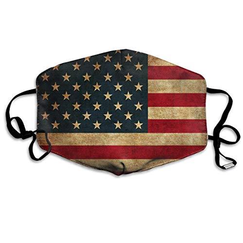 Caiq Ma-SK Vintage America Flag Face Ma-SK Earloops, verstelbaar, ademend, herbruikbaar, mondbescherming, outdoor-stof, voor volwassenen en kinderen