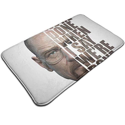 HUTTGIGH Breaking Bad Heisenberg - Alfombrilla antideslizante para puerta de entrada, alfombra de baño, alfombra de cocina, 44 x 81 cm, absorbente