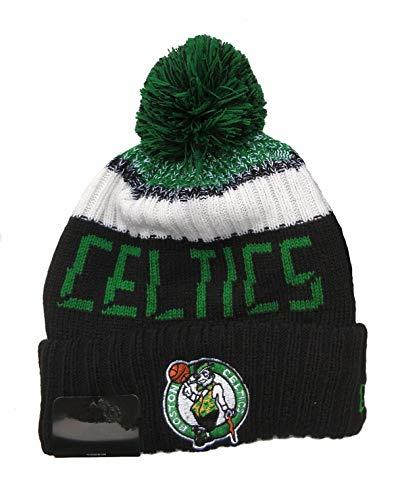 Qdkva Beanie Hat Winter Knit Cuffed Knit Cap Sport Hats Fashion Knitted Hat Embroidery Logo Hats (Celtics-BOS)