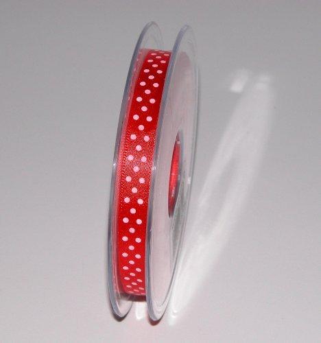 IRPot–2x rollo lazo rojo lunares blancos 1cm