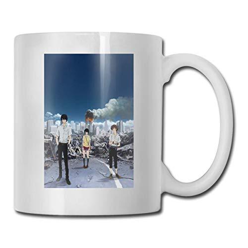 N\A Anime Zankyou No Terror Terror en resonancia Nueve Doce Tazas Empleado Taza de café de cerámica Multicolor