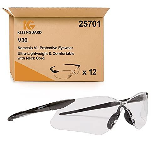KleenGuard V30 Nemesis VL Gafas de protección antiempañamiento 25701, 12 x gafas universales con lentes transparentes por paquete