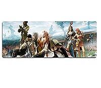 マウスパッド Final Fantasy Speedゲーミングマウスパッド| XXLマウスパッド| 800 x 300mmラージサイズ|完璧な精度とスピードD