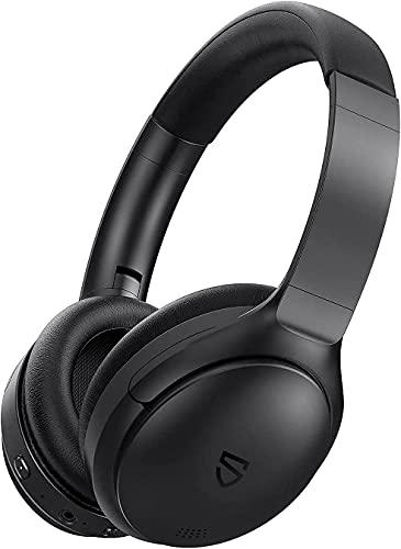 Auriculares Inalámbricos Diadema, SoundPEATS A6 Auriculares Bluetooth 5.0 Reducción de Ruido Activo SupraAuricular con Micrófono Audio Estéreo, Ligero y Plegable, 30 Horas de Automonía