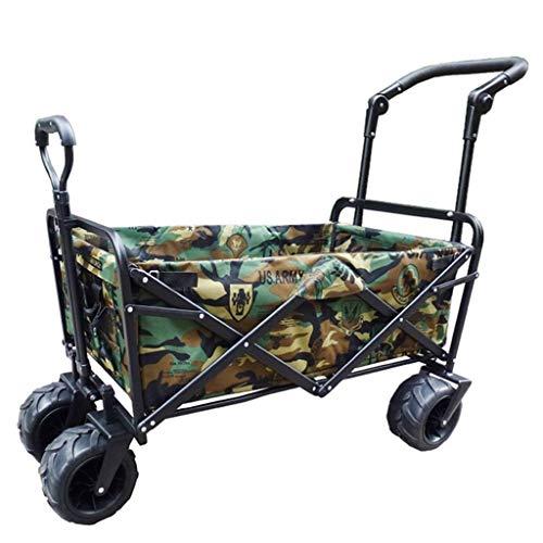 NIUYUANNN Gartenwagen, Faltbarer Einkaufswagenwagen Gartentransportwagen Zusammenklappbarer Tragbarer Faltwagen (Farbe : B)