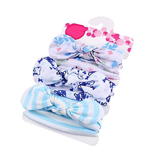 XIAOBAO Bandeau Cheveux pour Enfants Super Doux et Extensible Cheveux Wrap pour Enfants Tissu Coloré Lavable 3 pcs Style 2