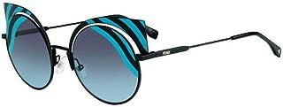 فيندي نظارة شمسية عين القطة للنساء - ازرق , FF0215-0LB-JF-53