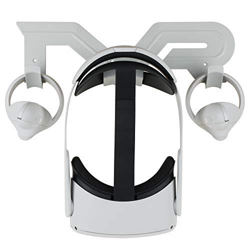 Elygo VR-Wandhalterung VR-Headset-Organizer-Ständer für Oculus Quest 2 /Oculus Quest/Oculus Rift S/Oculus Go/Valve Index/HTC Vive/HTC Vive Pro Headset und Controller Displayhalter VR-Zubehör