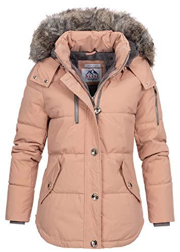 Blise Damen Winterjacke Winterparka Kapuze & Webpelz abnehmbar Teddyfutter rosa Gr:XL