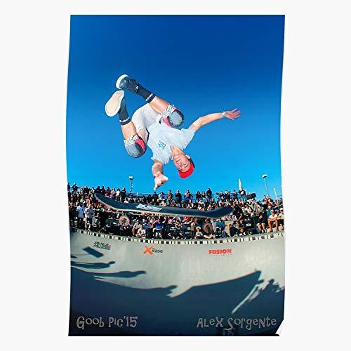 Xyxxcrew Skateboarding Zealand Riding Bowl Alex New Skateboarder Skate Rider Sorgente Skateboard Home Decor Wandkunst drucken Poster !