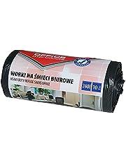 Office Products 22021252-05 vuilniszakken 240 l - 10 stuks sterk scheurbestendig LDPE  vuilniszakken vuilniszakken voor huishoudelijk afval voor op kantoor   kleur: zwart   foliedikte: 30 μm