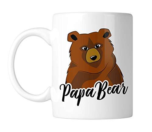 Taza de café divertida con diseño de oso papá de 325 ml para cocina, accesorios de cerámica para amigos, colegas y amantes