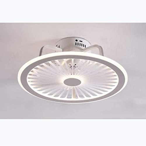 Deckenventilator LED 56W Mit Beleuchtungs-App und Fernbedienung Deckenventilator Einstellbare 3-Gang-Windgeschwindigkeit Dimmbares Schlafzimmer Wohnzimmer Kann Timing Fan Deckenleuchte (Weiß)
