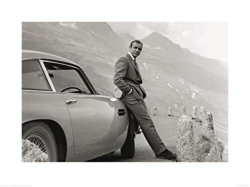 1art1 James Bond 007 - Sean Connery E Aston Martin Stampa d'Arte (80 x 60cm)