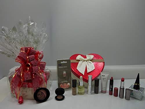 No7 Coffret cadeau 5 pièces Glam - Rouge à lèvres - Ombre à paupières - Vernis à ongles - Eyeliner - Palette de fard à paupières - Eyeliner liquide - Coffret cadeau emballé