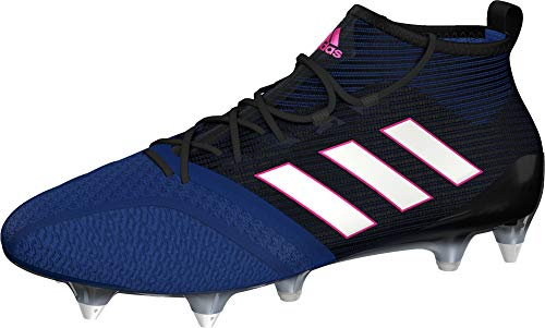 Adidas Ace 17.1 Primeknit Soft Ground, Zapatillas Deportivas para Interior para Hombre, Multicolor (Multicolour Black/Blue), 40 2/3 EU