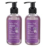 Nature Trail Lavender Love Body Wash Pack of 2 Combo with Jojoba Oil & Aloe - Organic, Natural, Sulphate & Paraben Free Bodywash, 200 ml X 2 bottles
