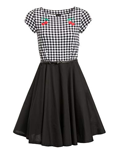 Pussy Deluxe Plaid Pettycoat Damen Petticoat-Kleid, Größe:M