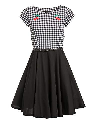 Pussy Deluxe Plaid Pettycoat Damen Petticoat-Kleid, Größe:S