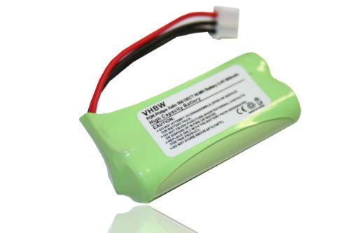 vhbw NI-MH Akku 600mAh (2.4V) für Handy, Handy, Smartphone Philips Aleor, Dect, Kala, Xalio, Zenia wie 2HR-AAAU, H-AAA500X2, H-AAA600X2.