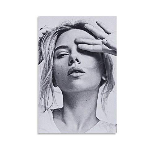 SHIXIA Kändis affisch Scarlett Johansson canvas konstaffisch och väggkonst bildtryck modern familj sovrum dekor affischer 50 x 75 cm (20 x 30 tum)