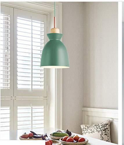 Barra De Barra De Individualidad Moderna Simple Nórdica Lámpara De Combinación De Tres Cabezas De Lámpara De Aluminio Creativa 100*19cm B verde