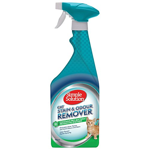 Simple Solution Cat Stain and Odour Remover | Enzymatic Cleaner with Pro-Bacteria Cleaning Power - 750 ml