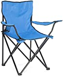 GREATS Silla Camping 50X50X80cm, Silla de Acampada Plegable Silla Jardin (1 Unidad, Azul)