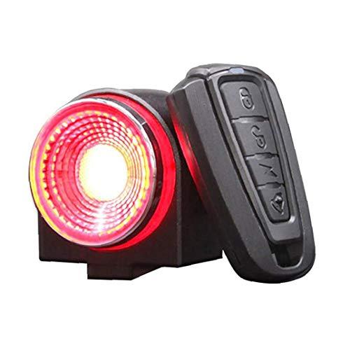 Bike Alarm Tail Light USB Bright Smart Brake Sensing Anti Theft Bicyclerechargeable Waterproof High Intensity Rear Bike Supplies