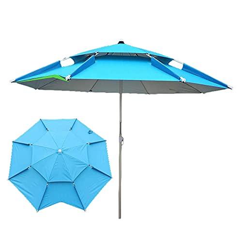 2 m playa pesca paraguas plegable al aire libre a prueba de lluvia protector solar anti-UV sombrilla camping toldo portátil impermeable lona, 3,
