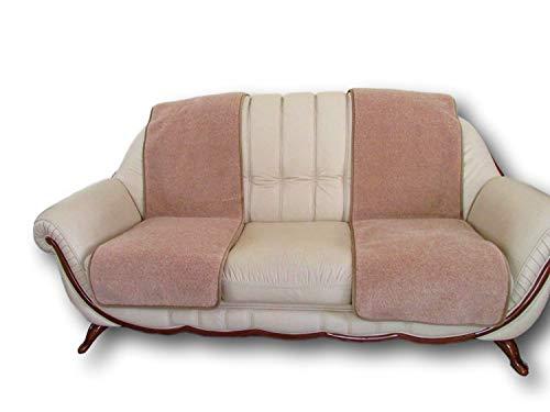 Sesselschoner - 2 Stück Sesselauflage Überwurf, Alpaca Wolle 50x200-2 St.