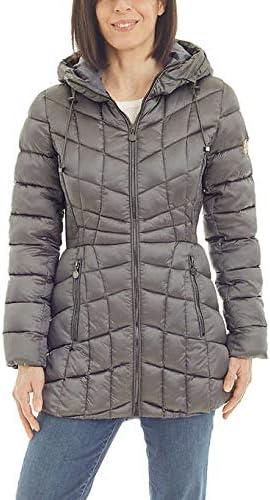 Bernardo Ladies' Quilted Jacket (Charcoal, Medium)