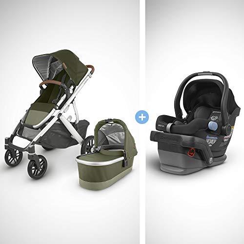 Buy Bargain UPPAbaby Vista V2 Stroller - Hazel (Olive/Silver/Saddle Leather) + Mesa Infant Car Seat ...