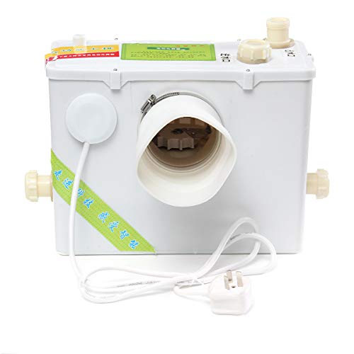 Bomba trituradora sanitaria vertical de 220 V, eliminación automática, trituración, baño de aguas residuales, lavabo para inodoro