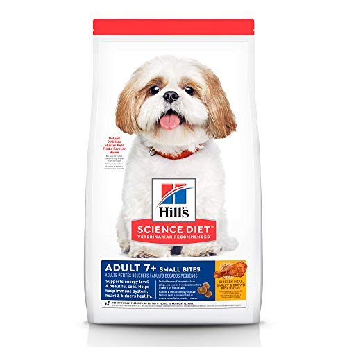 Hill's Science Diet Adult 7+ Small Bites Chicken Meal, Barley & Brown Rice Recipe Dry Dog Food, 15 lb Bag