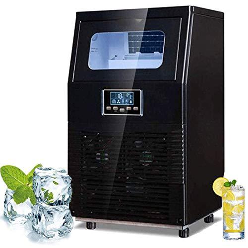 41K16G9Tq7L - HIZLJJ Eiswürfelmaschinen, Kommerzielle Eismaschine, 88LBS / 24h freistehende bewegliche Edelstahl-EIS-Hersteller-Maschine unter Gegen Eismaschine for Restaurants Bars