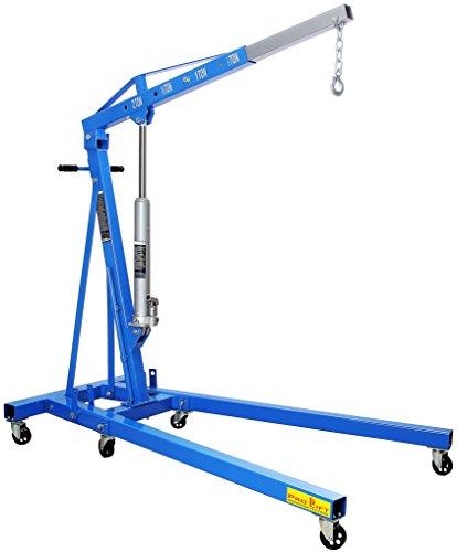 Pro-Lift-Montagetechnik 2000kg Werkstattkran, klappbar, stabiles/schweres Modell 102kg, blau, CE2TJ, 02203