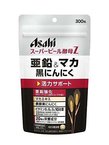 アサヒグループ食品 スーパービール酵母Z 亜鉛&マカ 黒にんにく 300粒 (20日分)